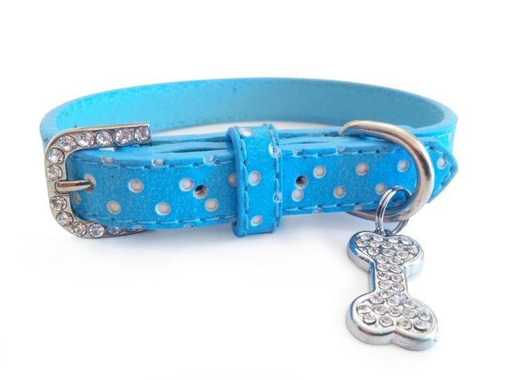 Little Pet Planet - Polka Dot Pet Dog Collar with Rhinestone Bone Charm, US$9.99 (http://www.littlepetplanet.com/collars/stylish-collars/polka-dot-pet-collar-with-rhinestone-bone-charm/)