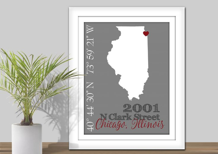 State Coordinates Address Map - PRINTABLE State Map Wall Art. State Coordinate Map. Gift for couple. New home gift, First Home, Housewarming by KerriCreatesDigital on Etsy