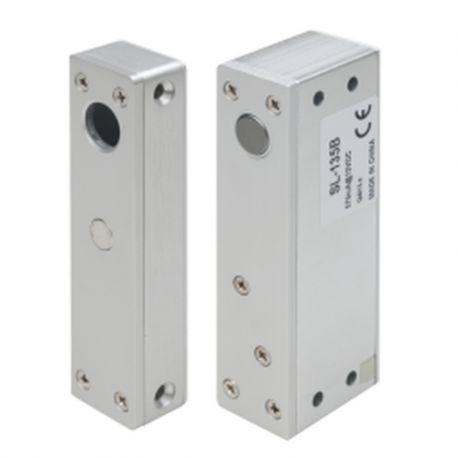Mini bolt electric aplicat SL-165B. CARACTERISTICILE MINI BOLTULUI ELECTRIC APLICAT SL-165B SL-165B este un mini bolt electric aplicabil cu monitorizare, temporizare si contact pentru buton. Poate fi utilizat in sistemele de control acces pentru usi din metal sau lemn.  Monitorizare stare usa (NC, COM, NO) Indicator LED bicolor Temporizare (0~3 secunde)