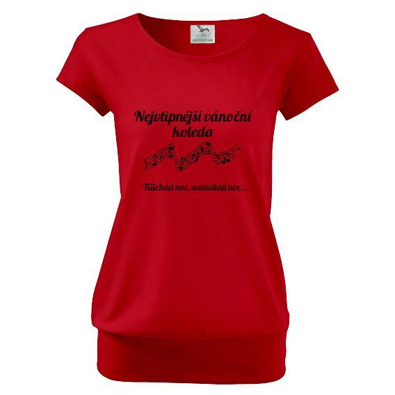 """Tip na vánoční dárek pro rodiče - tričko """"Nejvtipnější vánoční koleda""""."""