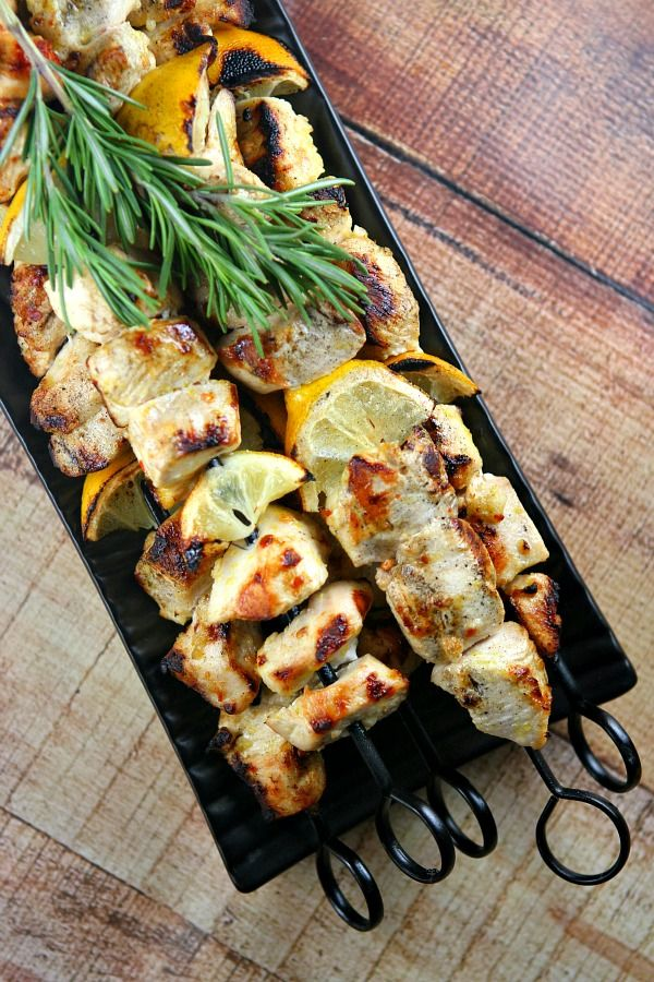Rosemary Lemon Chicken Skewers : Perfect Labor Day Barbecue Recipe!