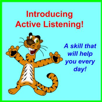 To view the preview properly, please upload it into PowerPoint, PowerPoint Online or Google Slides. This interactive listening lesson includes: - 14 colorful slides designed to engage and encourage discussion and learning - Fun, carefully chosen public domain clip-art images - Well placed animations to involve the students - An explanation of the difference between hearing and listening - Details on how passive listening differs from active listening - A clear