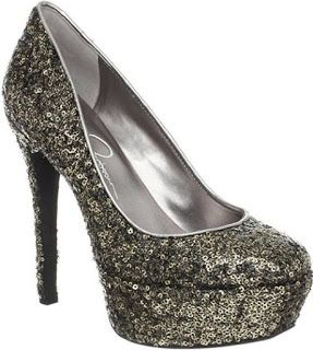 Jessica Simpson Heels Silver Pewter Sparkle Heel with Sequins of Silvery Shine a Shoe Idea for Wedding, Prom, Holiday Heel