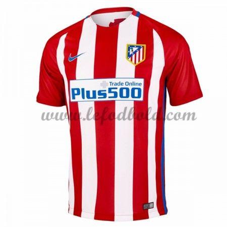Billige Fodboldtrøjer Atletico Madrid 2016-17 Kortærmet Hjemmebanetrøje