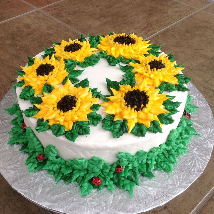 Sunflower Cake by Olga