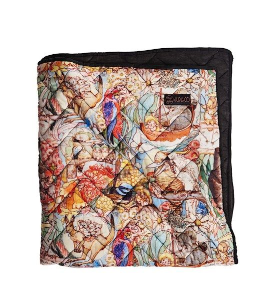 MAY GIBBS X KIP&CO BUSH FRIENDS QUILTED BEDSPREAD  
