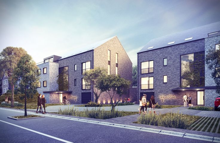 Immeuble de logements. Architecte: Groupe Gamma. Image: www.perspectif.be