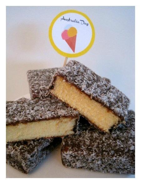 Original Australian Dessert: Lamingtons (Sponge Cake Dipped in Chocolate & Covered in Coconut)