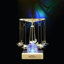 Merry-go-round LED lighted music box Plastic plane Model Craft Movement musical box Carousel Mechanism musical Toy Gift for kid ~ Detailed information can be found on  AliExpress.com. Just click the VISIT button. #HomeDecor