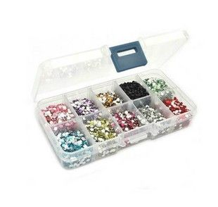 4mm acrylic diy bling rhinestones 10000pcs+storage box you pick colors | chriszcoolstuff - Craft Supplies on ArtFire http://www.artfire.com/ext/shop/product_view/6237798