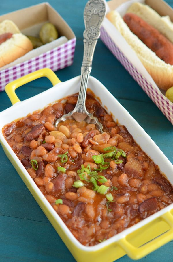 The BEST Baked Beans! Ever. This is NOT an understatement! Perfect for large gatherings!