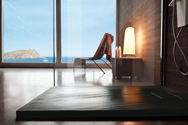 Samo Stone - textured shower flooring for better stability and feel