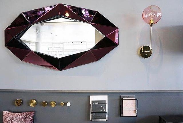 Inspiration // Diamond Mirror XL // Burgundy