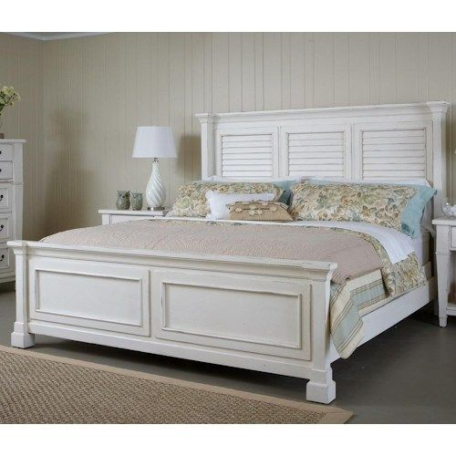 Folio 21 Astoria King Bed with Shutter Headboard and Panel Footboard