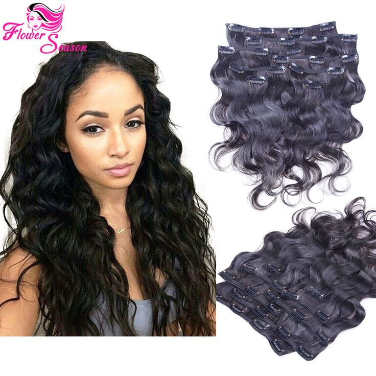 13 best luffywighair clip in hair extension images on pinterest body wave clip in human hair extensions brazilian virgin hair full head set wavy pmusecretfo Images