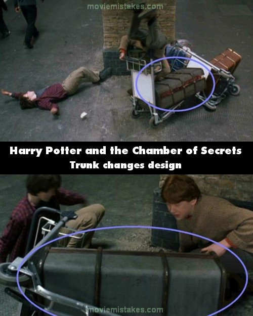 Trunk design - Top 15 biggest Harry Potter film mistakes