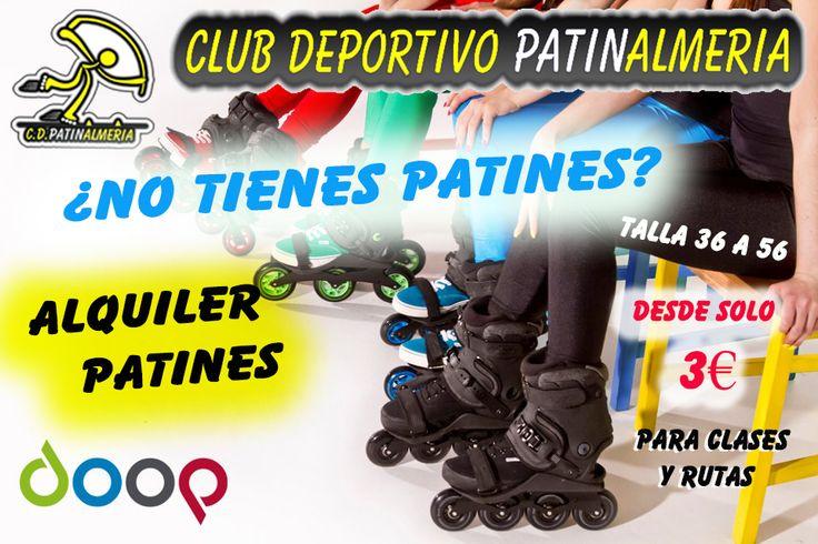 #Alquiler #patines para #adultos ( #Almeria )  Doop ajustables de la talla 36 a la 56!!  No te arrepientas y disfruta sobre ruedas!