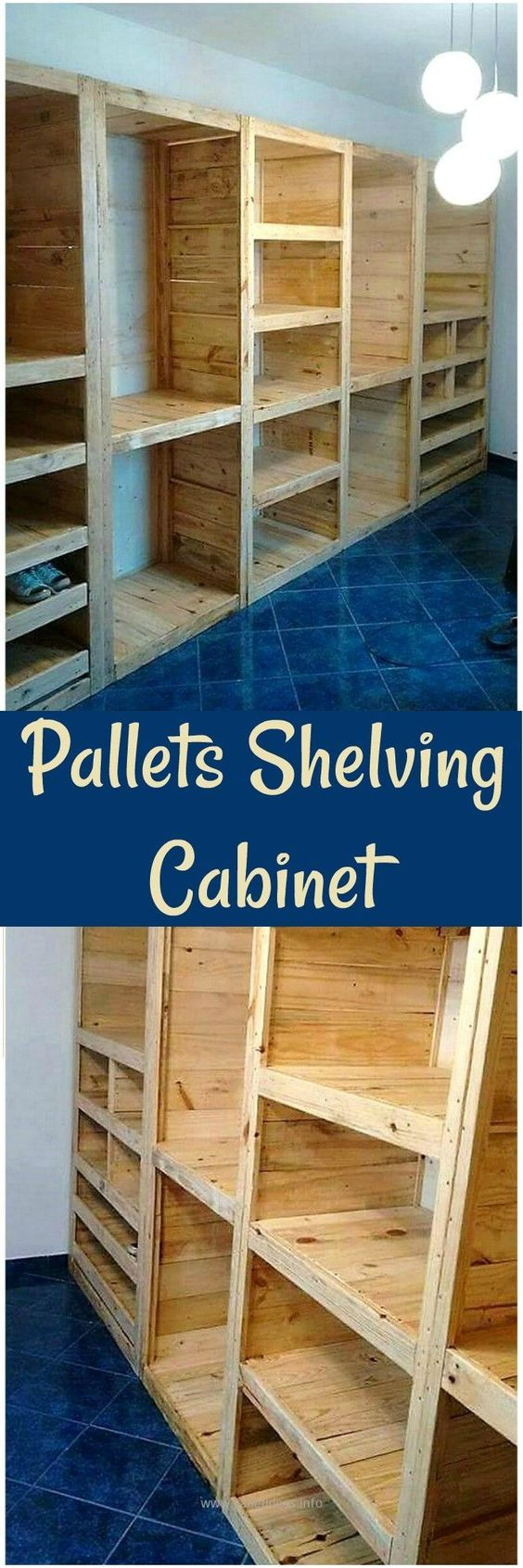 Pallets Shelving Cabinet - wooden pallet #woodenpalletfurniture