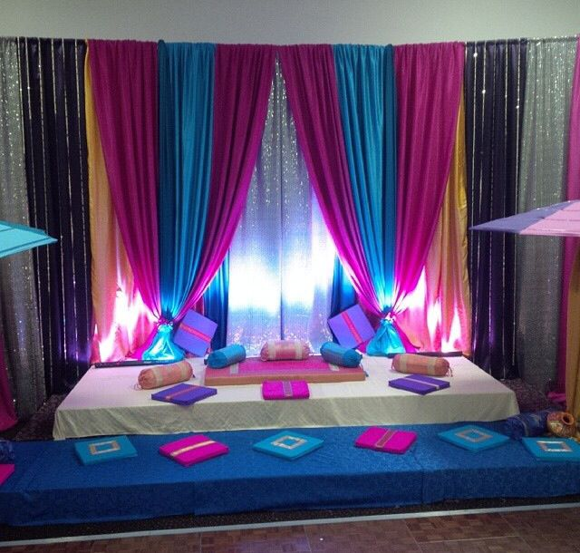 Mehndi Stage Backdrops : Best indian wedding backdrops draping festive