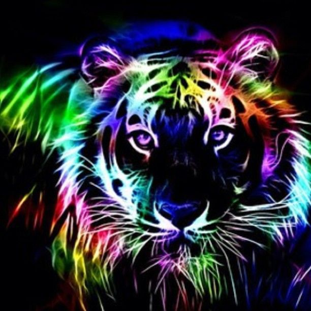 Neon tiger breon ray pinterest neon and tigers - Neon animals wallpaper ...