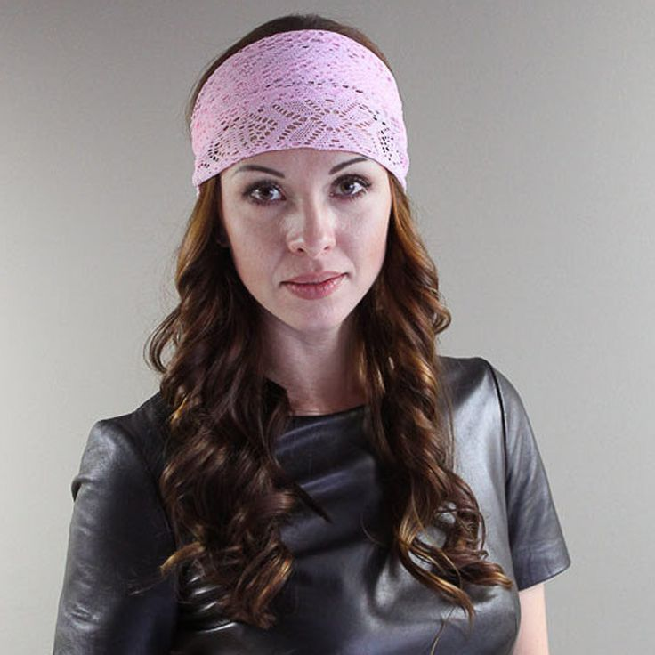 Fashion 1 PC Women Lady Lace Wide Elastic Headband Bandanas Head Wraps Sports Hairband Hair Band Accessories Summer Tiara