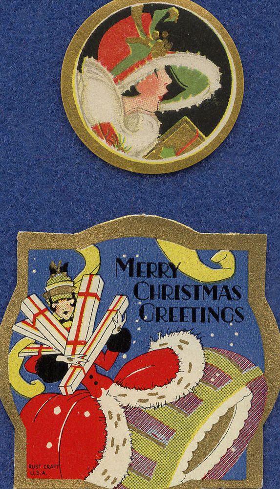 Vintage 1930s Art Deco Christmas Seals/Tags