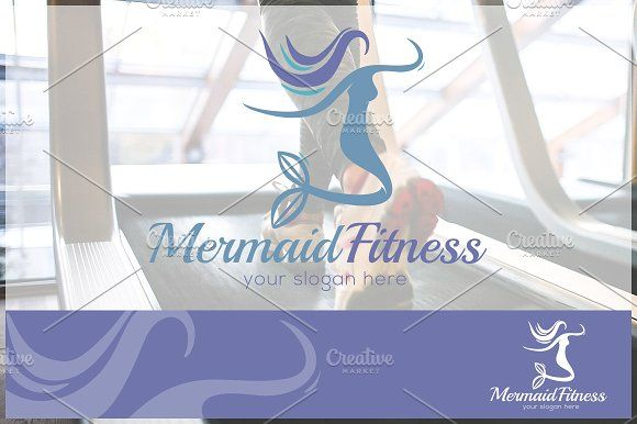 Mermaid - Fitness Logo Template by CD on @creativemarket