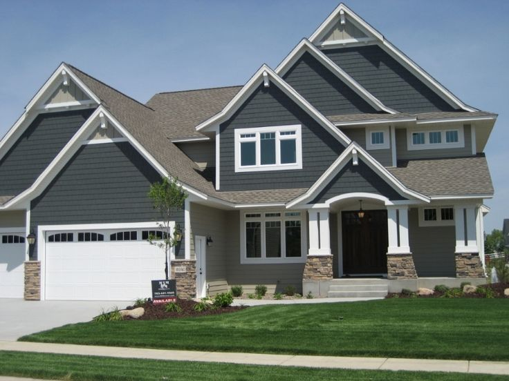 James Hardie   Hardie Plank  Night Gray Siding More · Exterior House ColorsExterior  DesignHouse ...