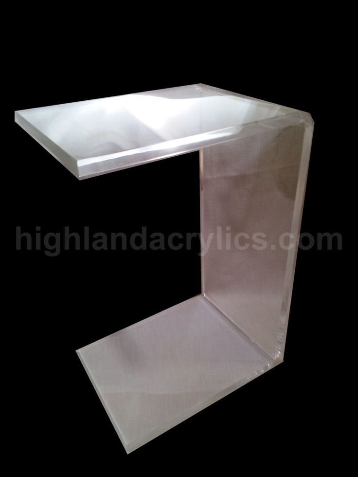 Acrylic Lucite Waterfall Style C Table Custom Hand Made By HighlandAcrylics  On Etsy Https:/