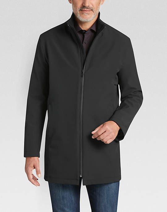 Awearness Kenneth Cole AWEAR-TECH Black Modern Fit Raincoat - Mens Raincoats, Outerwear - Men's Wearhouse