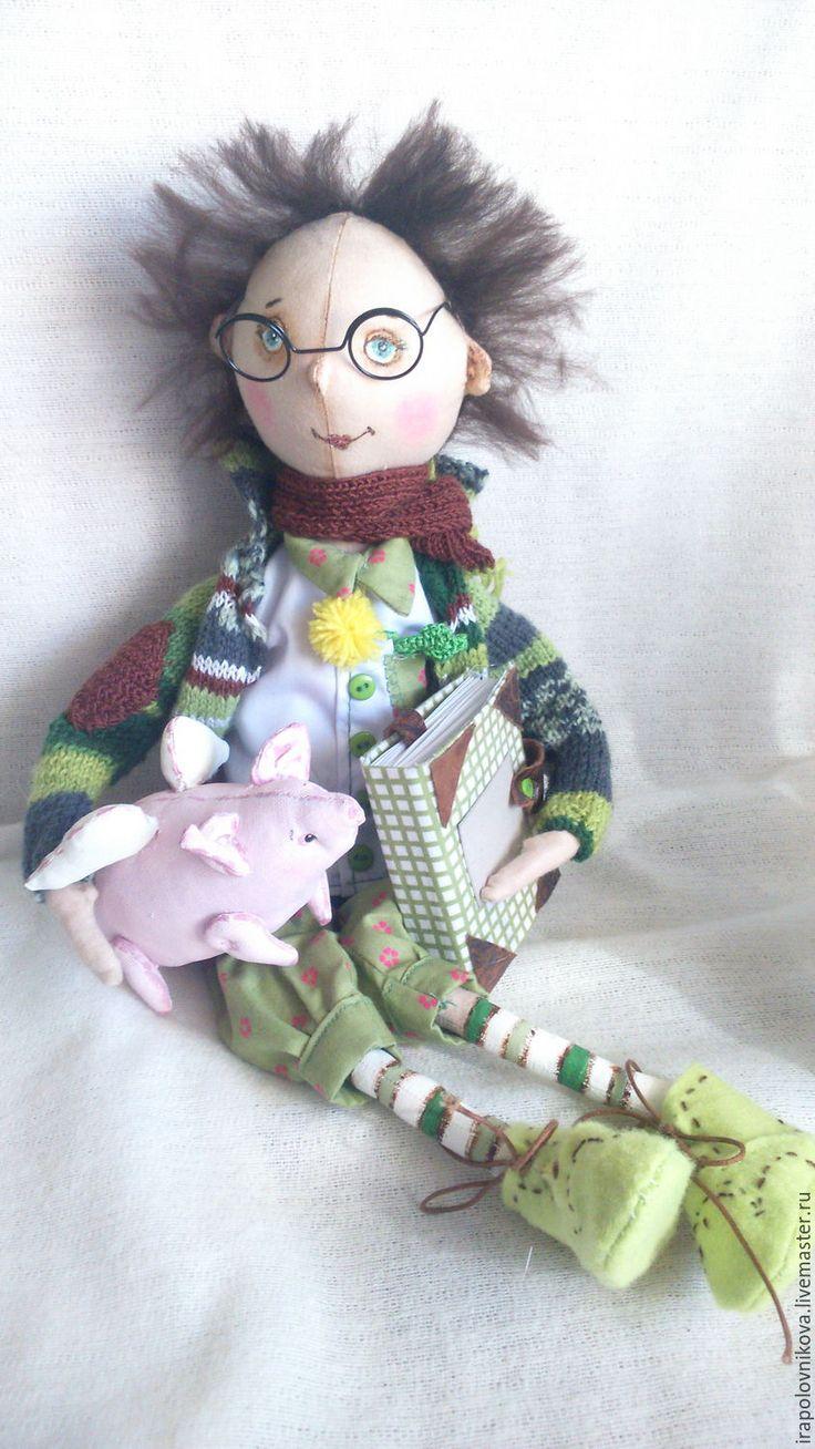 Купить Вениамин - волшебник самоучка. - тёмно-зелёный, белый, зеленый, желтый, розовый, волшебство, волшебник