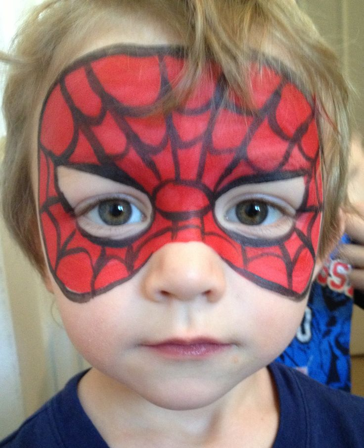 Spider Man mask - Face Painting by Jennifer VanDyke | Face ...