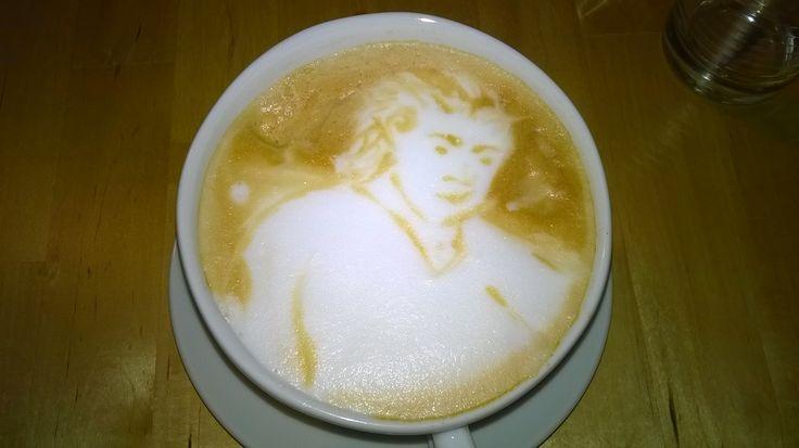Cappuccinokunst #coffeeart #latteart #Kaffee #coffee@home