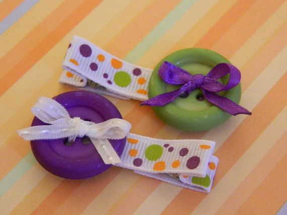 Green & Purple clippies