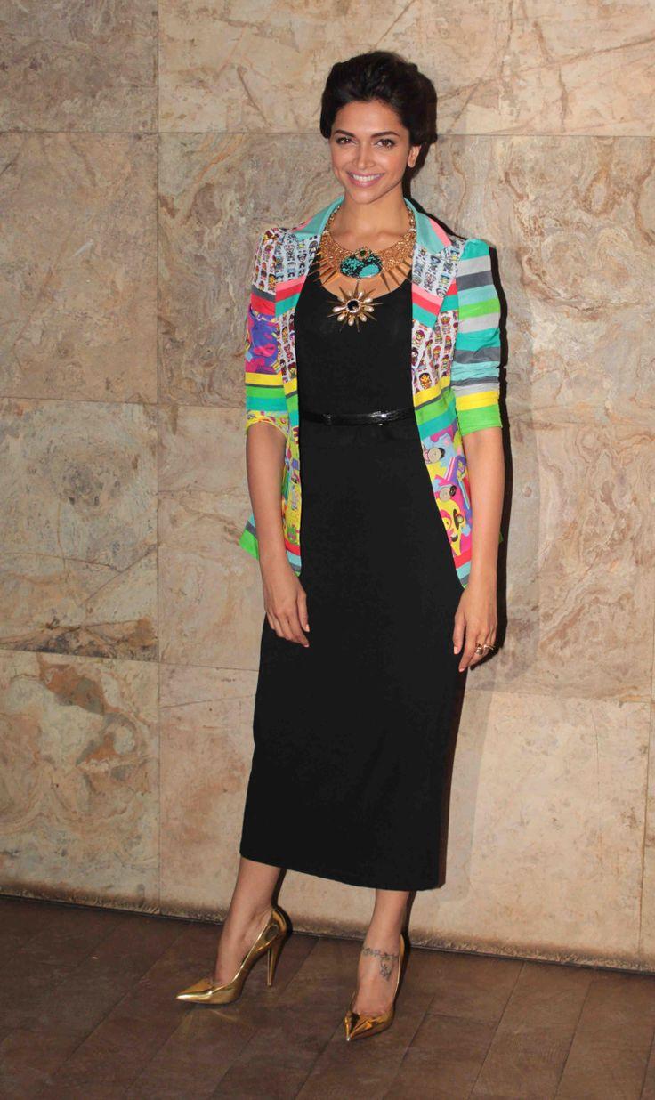 The stunning, Deepika Padukone in a Quirkbox jacket