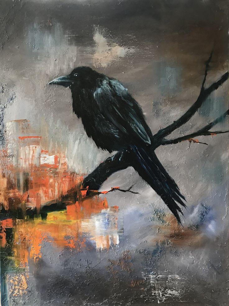 Raven à la Lindsay Kustusch - oil painting