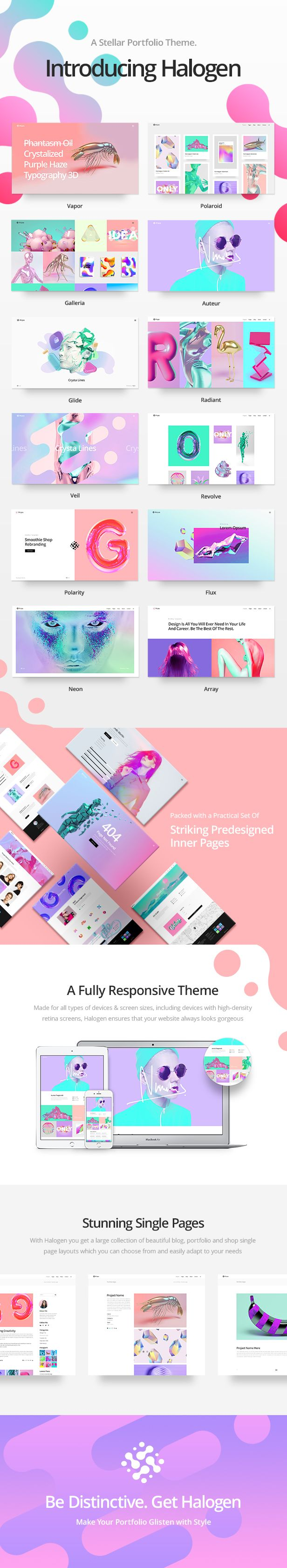 Halogen - A Stellar, Innovative Portfolio Theme #agency #artistic #colorful
