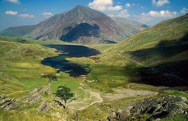 Mount Snowdon in Wales - went here for x-mas hoping for snow...ended up sledding in the mud!