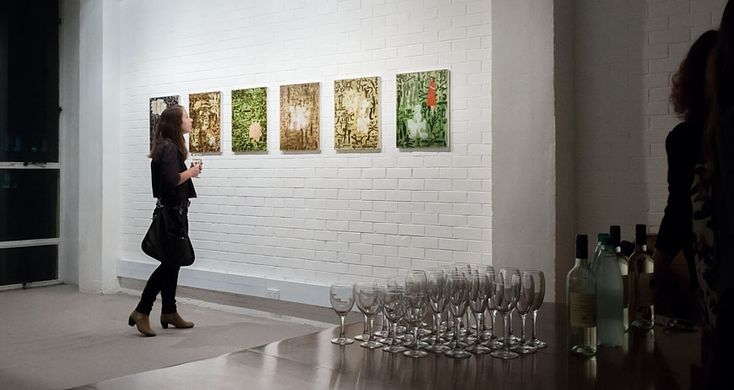 Iris Gate, the suite of 6 paintings by Barbara Tuck produced in 1999, shown for the first time in 2014