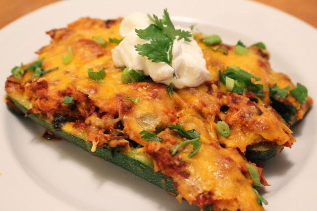 Enchilada zucchini boats | Main dish foodies | Pinterest