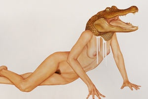 Toronto based contemporary figurative artist Brian Donelly and his animalistic portraits.