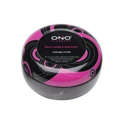 Bundle Ono Massage Candle French Vanilla and 2 pack of Pink Silicone Lubricant 3.3 oz by Lelo. $26.38. Bundle ONOs soy wax massage candles are made from all-natural ingredients to form a nourishing emollient for the skin. When lit, the wax melts into a moisturizing massage oil that can be poured to leave your body soft, smooth and lightly scented. Rich in the vitamins your skin needs, ONO massage candles combine soy wax