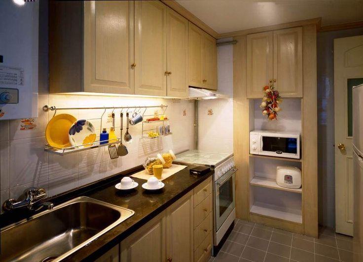 1000 ide tentang dapur kecil di pinterest dapur for Small kitchen kabinet