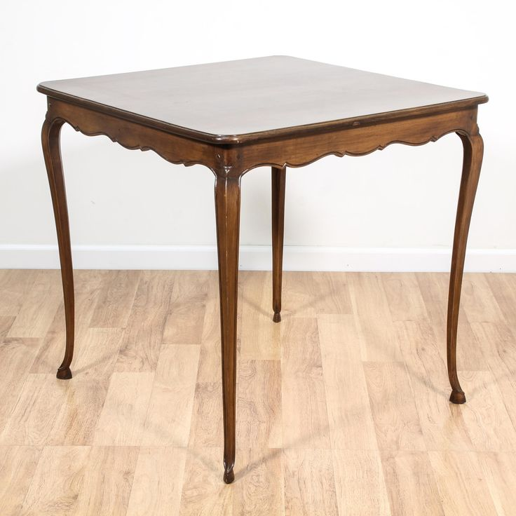 This Georgian Inspired Game Table Is Featured In A Solid Wood With A Glossy  Oak Finish