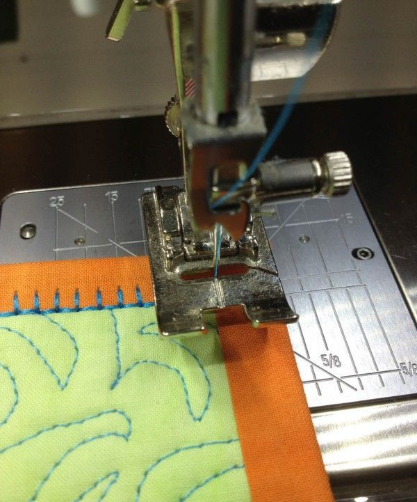 This quick quilting tip is a way to add a bit of texture and interest to the finished binding of your quilt.