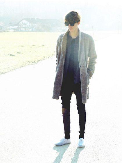 Zara Sunglasses, Topman Coat, Marc O'polo Shirt, Cheap Monday Jeans, Primark Shoes