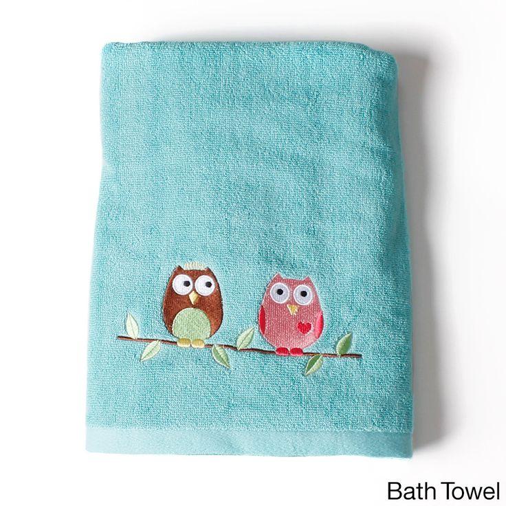 Kids owl bathroom decor