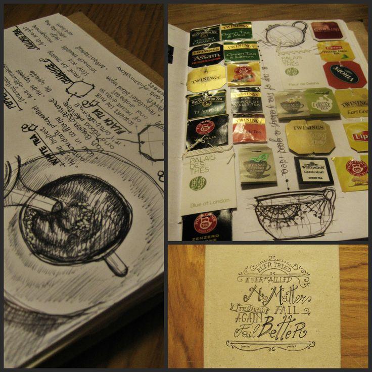 A cup of tea is always a good idea  -black ink- sketch book