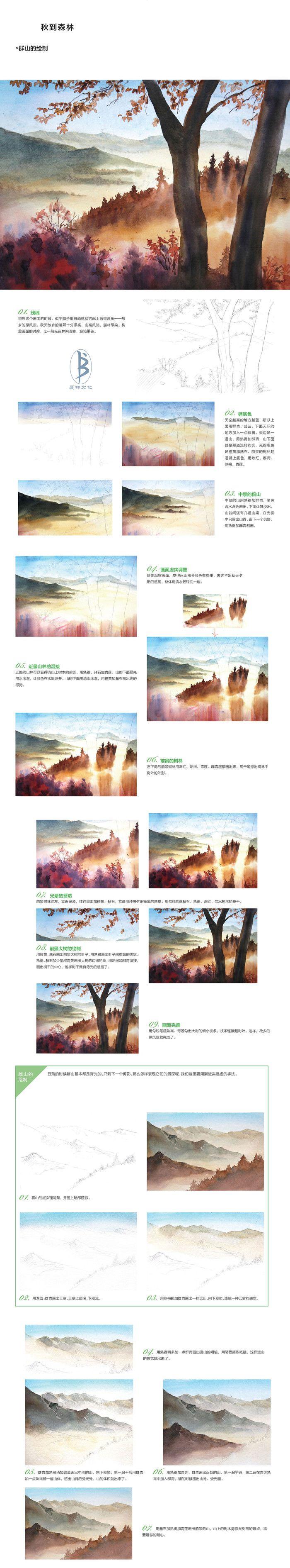 本案例摘自人民邮电出版社出版、爱林文化主编的《浪漫水彩课——唯美森林手绘技法》--爱林文化制作