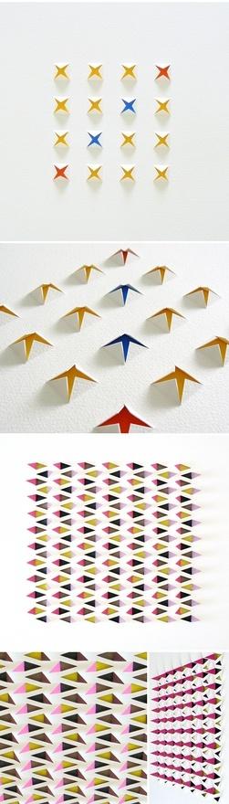 Formas, texturas e cores com papel